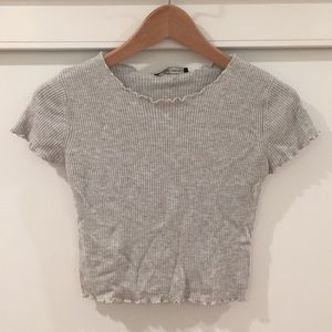 Gray Brandy Melville crop top